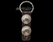 Native American Indian Head/Buffalo Nickel Key Ring