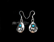 Zuni American Indian Earrings -Bear Paws
