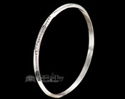 "Native American Silver Bangle Bracelet 8.5"" -Zuni"