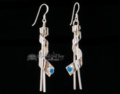 Native American Silver Earrings -Navajo