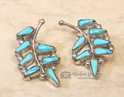Native American Silver & Turquoise Earrings