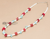 Navajo Indian Beaded Necklace 22""