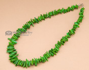 """American Indian Beaded Necklace 17"""" -Green"""