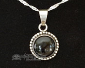 Southwest Sterling Silver Pendant & Chain -Round