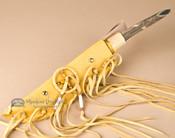 """Pueblo Indian Antler Knife & Sheath 15.75"""" -Left Handed (k39)"""