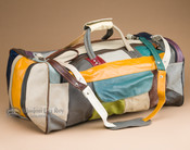 "Genuine Cowhide Duffle Bag 22"" -Multicolor (db12)"