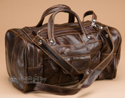 "Small Leather Duffle Bag 12"" -Distressed Brown (b4)"
