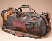 "Genuine Cowhide Travel Bag 20"" -Multicolor (b452)"