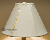 "Western Leather Lampshade - 10"" Natural Pig Skin"