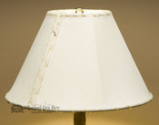 """Western Pig Skin Leather Lamp Shade - 12"""" Natural"""