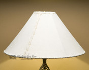 "Western Table Lampshade - 20"" Natural Pig Skin"