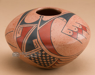 Hand Painted Mata Ortiz Clay Pottery Bowl