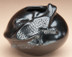 Mata Ortiz Pottery - Black on Black - Lizard