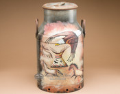 Southwestern Hand Painted Milk Can - Native Eagle.