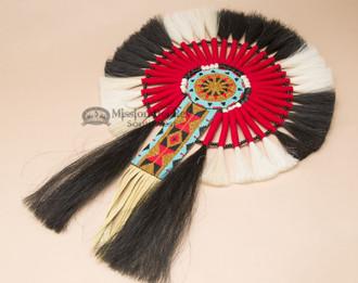 Native American Beaded Horse Hair Dance Bustle 16 Quot X23