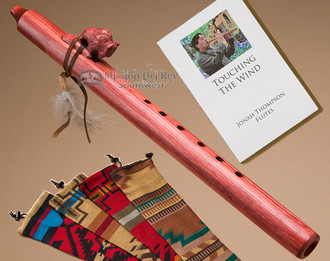 Native American Flute & Bag -Cherry Buffalo