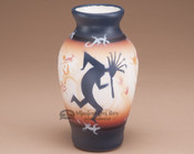 Southwest Painted Pottery Vase - Kokopelli