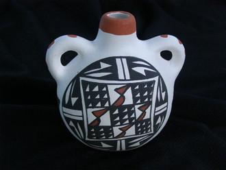 Acoma Painted Pottery Vase