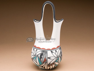 Tigua Wedding Vase - Hand Painted