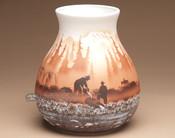 """Native American Navajo Pottery Vase 9.25"""" -Prospector (p179)"""