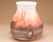 """Native American Navajo Pottery Vase 9.25"""" -Prospector"""