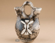 Navajo Wedding Vase - Horsehair Etched