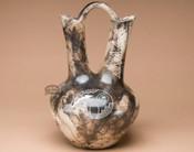 Large Horsehair Etched Wedding Vase -Spirit Bear