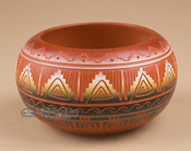 Indian Pottery Etched Clay Bowl 3.25 -Navajo (p329)