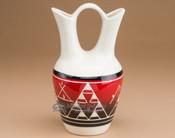 """Lakota Indian Glazed Wedding Vase 8.25"""" -Red (p330)"""