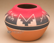 "Lakota Red Clay Medicine Bowl 6""x4"" -Sioux (p608)"