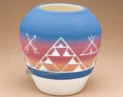 "Native American Clay Harvest Vase 7.25"" -Sioux (p615)"