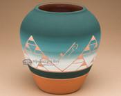 "Native American Lakota Harvest Vase 7.25"" -Sioux (p618)"