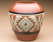 "Sioux Indian Harvest Vase 7.25"" -Lakota Earth Glazed (p636)"