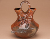 "Navajo Traditional Hand Coiled Wedding Vase 6.75"" (p647)"