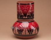 "Sioux Indian Spirit Vase 8.75"" -Lakota Red Glazed"