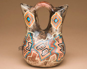 Hand Painted Hopi Horse Hair Wedding Vase