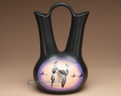 "Native American Navajo Wedding Vase 12.5"" -Dancers"