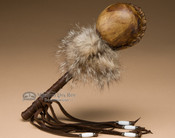 Native American rawhide rattle.