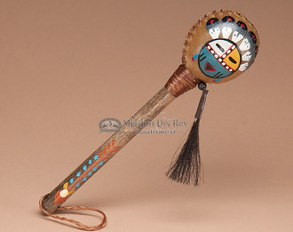 Painted Rattle with Sunface