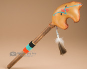 Navajo Rawhide Rattle-Spirit Bear