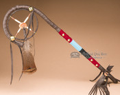 Native American Leather Medicine Staff 24""