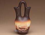 """Native American Navajo Wedding Vase 10"""" -Southwest (v213)"""