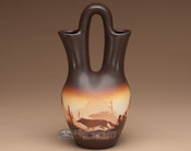 "Native American Navajo Wedding Vase 10"" -Southwest"