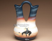 Native American End of Trail wedding vase.