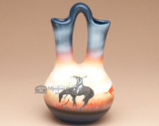 "Native American Navajo Wedding Vase 6.5"" -End Of Trail (81)"