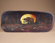 Painted Tarahumara Bowl - Moonlit Bear