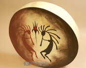 Hand painted Tarahumara Indian rawhide hoop drum