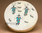 Painted Drum -Tigua Indian Warriors