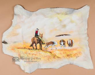 Western Painted Goat hide - Cow Poke