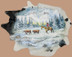 Large Cowhide Hand Painted - Snowy Valley